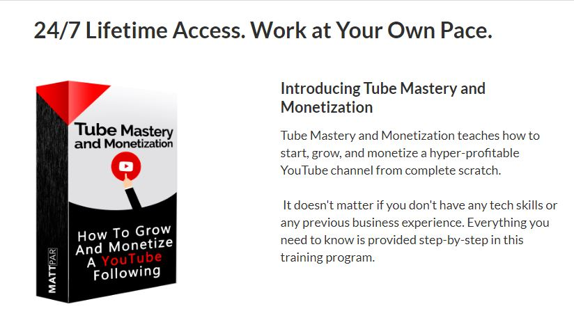 tube mastery and monetization review