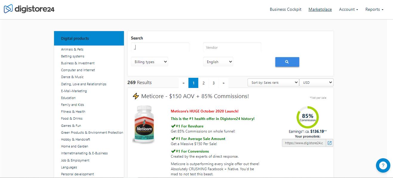 Digistore24 Marketplace